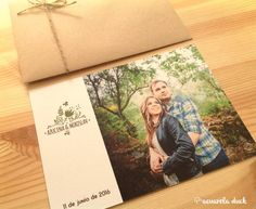 Invitación de boda con foto. Invitaciones personalizadas. Wedding stationery.