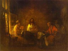 Rembrandt - The Pilgrims at Emmaus  - WikiArt.org