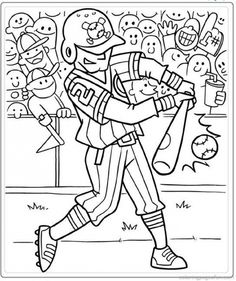 a hitter in baseball coloring page pritable
