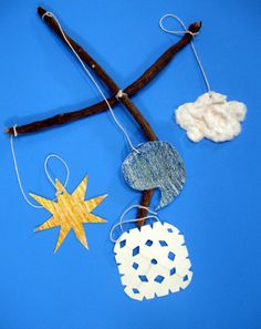 Have your child make a special mobile inspired by the weather outside. Learn about seasons, the environment, and art in 3-D.
