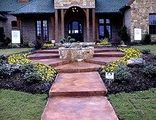 Concrete Entryways Holland Decorative Concrete Rockwall, TX