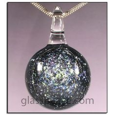 Galaxy Pendant - Dichroic Glass Lampwork Focal by Glass Peace $20.95