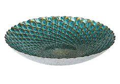 FURNITURE VILLAGE Teal Bowl Decorative ceramic bowl White exterior contrasts with glazed, shimmering interior Outward radiating lattice design ]]> http://www.MightGet.com/january-2017-11/furniture-village-teal-bowl.asp