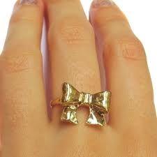 Golden Bow Ring
