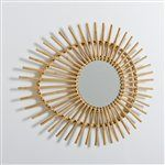 Nogu Eye-Shaped Vintage Rattan Mirror La Redoute Interieurs - Home & Furniture Rattan, Wicker, Mid Century Modern Mirror, Modern Mirrors, Putting On The Ritz, Bamboo Mirror, Mirror Mirror, Flower Mirror, Turbulence Deco