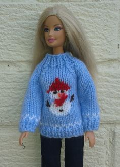 Barbie snowman sweater  Knitting pattern on Ravelry