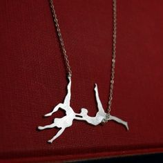 Trapeze Artists Sterling Silver Necklace by Markhed by MarKhed, $68.00