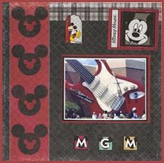 MGM, Disney Mini Scrapbook Album Page 15  (Cricut Inspired Layouts)