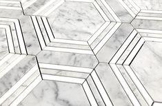 Hexagon Mosaic Tile, Marble Mosaic, Interior Architecture, Interior Design, Carrara, Tile Floor, Flooring, Small Bathrooms, House Styles