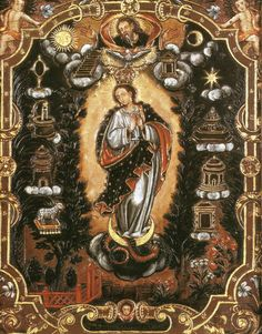 Anonymous, Immaculate Conception, 17th century, oil on copper, Museo Pedro de Osma, Lima.