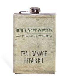 Land Cruiser Trail Damage Repair Kit 8oz Flask – Wicked Wheeler