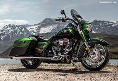 Harley Davidson 2014 : CVO Road King - repined by http://www.vikingbags.com/