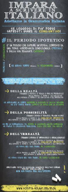 La serie impara a scrivere in italiano: adottiamo la grammatica italiana: il periodo ipotetico - condizionale e congiuntivo