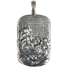 Pre-owned David Yurman Sterling Silver Waves Tag Pendant 27mmx16mm ($156) ❤ liked on Polyvore featuring jewelry, pendants, accessories, none, pre owned jewelry, sterling silver jewellery, david yurman pendant, chains jewelry and david yurman jewellery