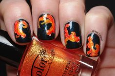 omg goldfish nails!!!!!!!!!!!!! @Codi Maroussi Maroussi brown piddle would love this!!!