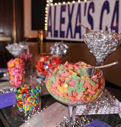Bat Mitzvah Candy Bar Buffet | mazelmoments.com