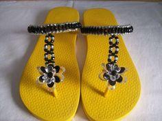 Fotos de  decora y confecciona sandalias, cholas playeras, aprende paso a paso, confeccion de pulser