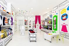 Gorgeous store and great inspiration for a bedroom.   Piccino children fashion store by Masquespacio, Valencia – Spain