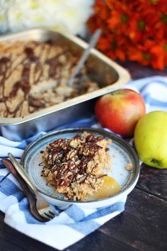 Συνταγή για εύκολο apple crumble – Cool Artisan Sweet Recipes, Acai Bowl, Drinks, Breakfast, Food, Acai Berry Bowl, Drinking, Morning Coffee, Beverages