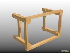 Comment construire un établi Plus Making A Workbench, Workbench Plans Diy, Workbench Organization, Building A Workbench, Building A Garage, Woodworking Plans, Woodworking Projects, Workbench Top, Woodworking Machinery