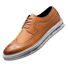 c8cbf2708656 ⭐Tap the link to shop⭐YANXU Mens Casual Fashion Leather Sneaker Wingtip  Lace Oxford Dress Shoes