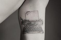 54 ideas tattoo fonts vintage typewriters for 2019 Popular Tattoos, Trendy Tattoos, Cool Tattoos, Tatoos, Diy Tattoo, Line Work Tattoo, Back Tattoo, Body Art Tattoos, Sleeve Tattoos