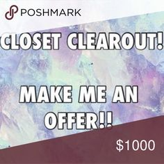 🌟Accepting all reasonable offers🌟 I am moving in a couple months so I need to clean out my closet! I'll accept reasonable offers 💗💗💗😘 Other