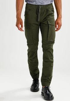 G-Star ROVIC SLIM CUFFED - Cargo trousers - dark bronze green - Zalando.co.uk