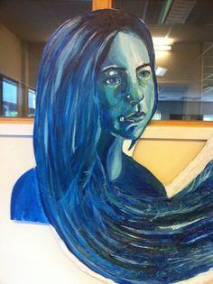 My self portrait for my final piece!