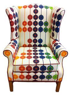 Refurbished Vintage Wingback Arm Chair. $990.00, via Etsy.