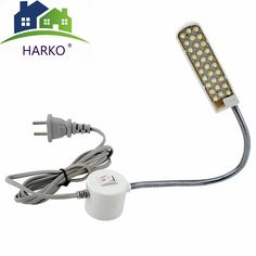 2018 Portable Sewing Machine LED Light Magnetic Mounting Base Gooseneck Lamp for All Sewing Machine Lighting US/EU Plug Led Grow Lights, Solar Lights, Lumiere Led, Easy Install, Led Lamp, Outdoor Lighting, Light Colors, Base, Sewing