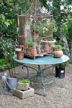 our kitchen garden. the kitchen garden at Velvet and Linen Garden Junk, Garden Shop, Dream Garden, Garden Art, Garden Tools, Garden Design, Garden Ideas, Deco Champetre, Potting Tables