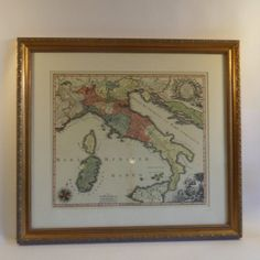 Framed Old World Map of Italy in Midtown, Manhattan ~ Apartment Therapy Classifieds
