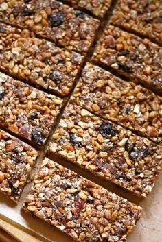 Healthy granola bars recipe...