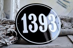 Address Plaque 71 x 79 by enamelsign on Etsy, $109.00