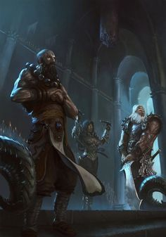 Diablo III: Monk, Barbarian & Demon Hunter | #art #games #diablo3 #blizzard