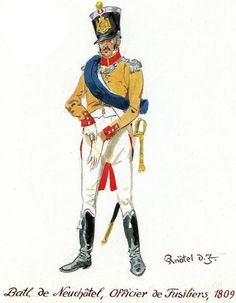 Swiss; Neuchatel Battalion, Fusilier Officer 1809