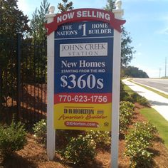 Homebuilder Sign