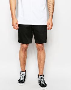 Image 1 of ASOS Skinny Shorts In Textured Fabric