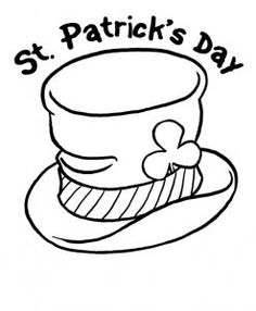 st patricks day coloring pages for kindergarten free printable
