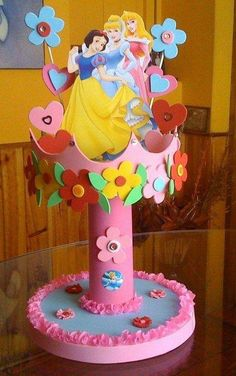 Princess Party Decorations, Birthday Party Centerpieces, Birthday Decorations, Birthday Parties, Craft Party, Diy Party, Foam Crafts, Diy And Crafts, Disney Princess Party