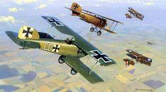 Albatros D.II vs Airco DH 2, by Mark Postlethwaite                                                                                                                                                                                 More