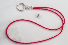 3 in 1 Red  Eyeglass Chain. Flashy Eyeglass Necklace Chain. Glasses Holder. Reading Glasses Chain.