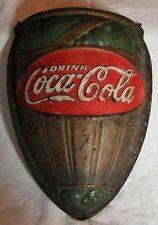 Vintage 1932 Coca-Cola Advertising Floral Box Sign