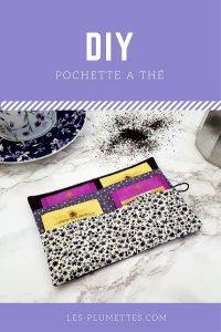 pochette-a-the-diy-couture-debutant Diy Couture, Couture Sewing, Pochette Portable Couture, Sewing Tutorials, Sewing Projects, Diy Sac, Tea Design, Sewing Lessons, Diy Purse