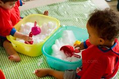 Baby Snow Cone Station, via www.mysmallpotatoes.com