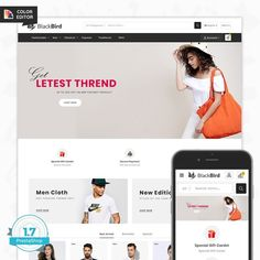 BlackBird - The Fashion Store is Responsive theme and designed for selling fashion Apparel,Wear,Accessories,Clothing store. Theme is responsive and supports all devices,user-friendly and fine-looking Color Editor, Website Design Inspiration, Blackbird, Fashion Outfits, Web Layout, Layout Design, How To Wear, Flower Food, Templates