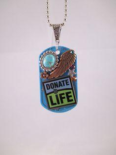 Donate life tag. I love it!!