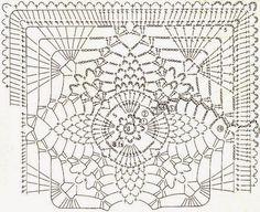 Square motive backing | Kira crochet