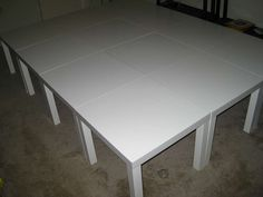 Instructables on how to turn Ikea Lack side tables into a platform bedframe